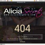 Alicia Secrets Free Acounts