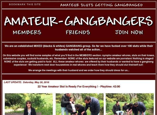 Amateurgangbangers Signup