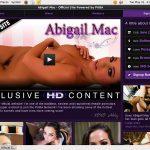 Free Account On Abigailmac