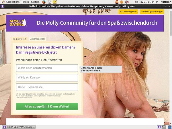 Free Logins For Mollydating.com