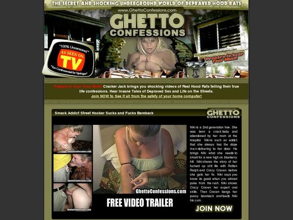 Ghetto Confessions Website Password