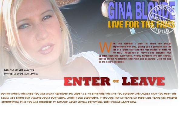Gina Blonde Username