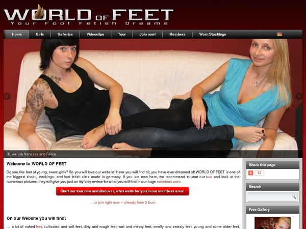 Mobile World-of-feet.net Account