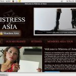 New Free Mistress Of Asia Accounts