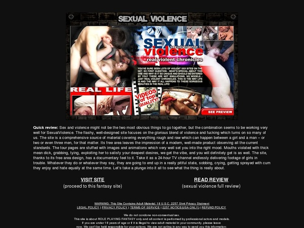 Real Sexual Violenc Discount Coupon