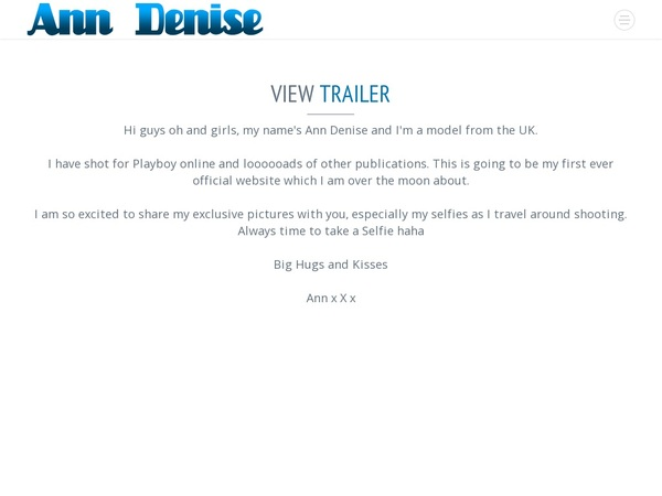 Sign Up Official Ann Denise