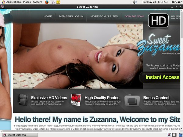 Sweetzuzanna.com Website Accounts
