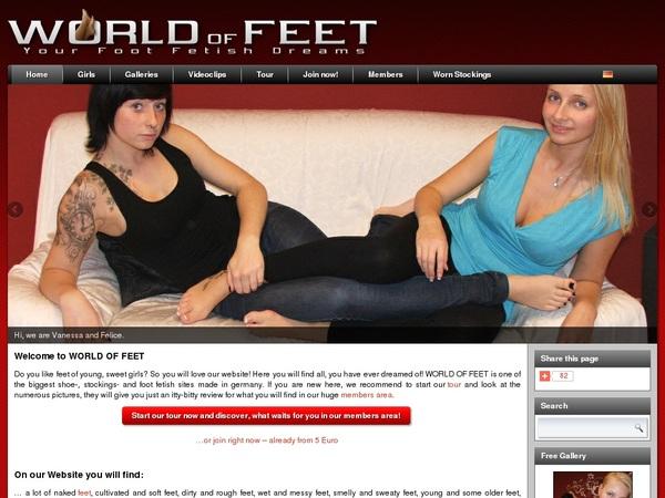World-of-feet.net Account 2014