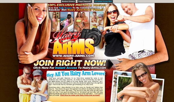 Hairy-arms.com Account 2015