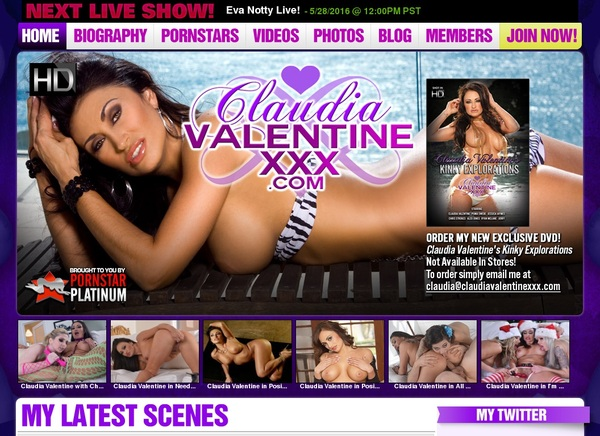 Claudiavalentinexxx.com Porn Account