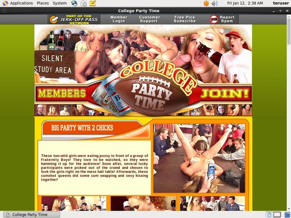 Free Login College Party Time