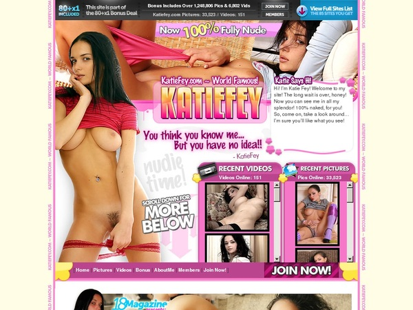 Katiefey.com With Credit Card