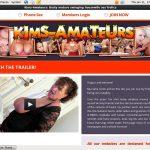 Mobile Kims-amateurs.com Account