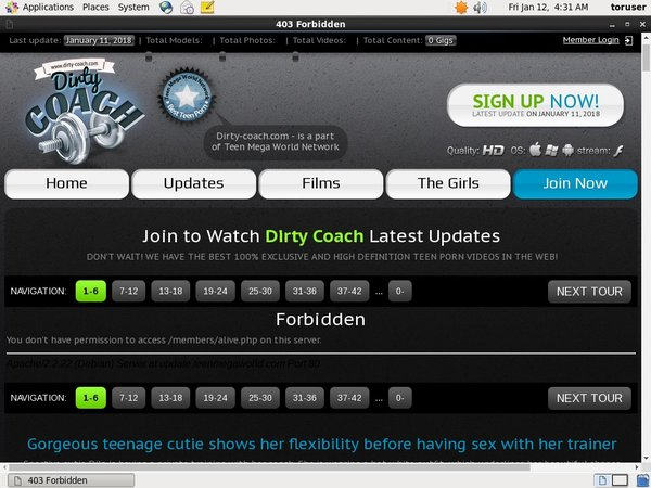 Dirty-coach.com Hacked Accounts
