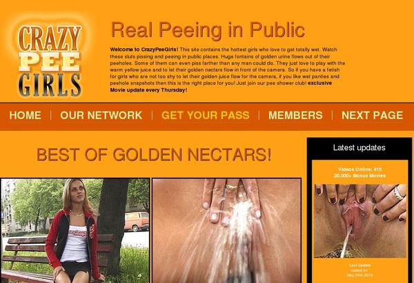 New Free Crazy Pee Girls Account
