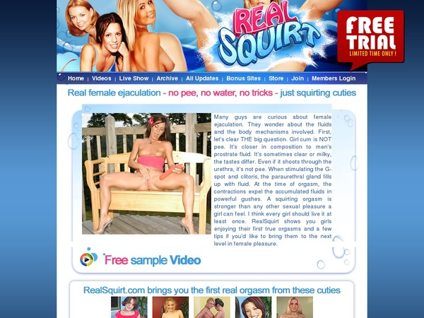 Realsquirt Special Offer