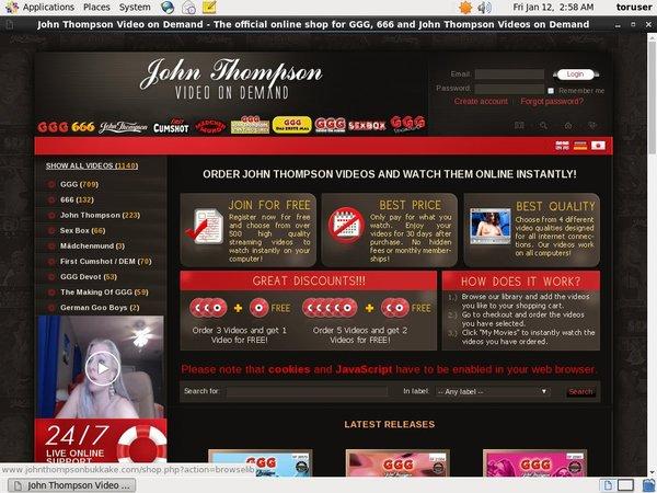 Johnthompsonbukkake.com Xxx