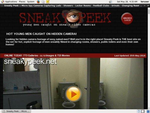 Sneakypeek Pass Word