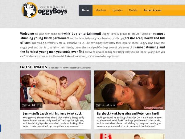 Doggyboys.com Mobile Account