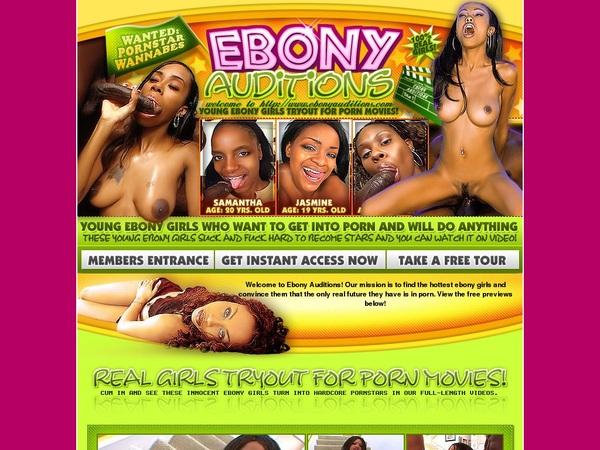 Ebonyauditions.com Sconto