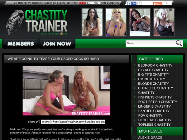 New Free Chastitytrainer.com Account