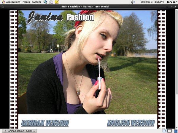 New Free Janinafashion.com Account