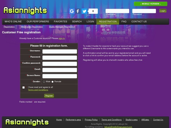 Free Password To Asiannights.com
