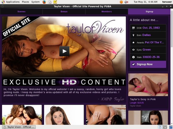 Free Account For Taylorvixen.com