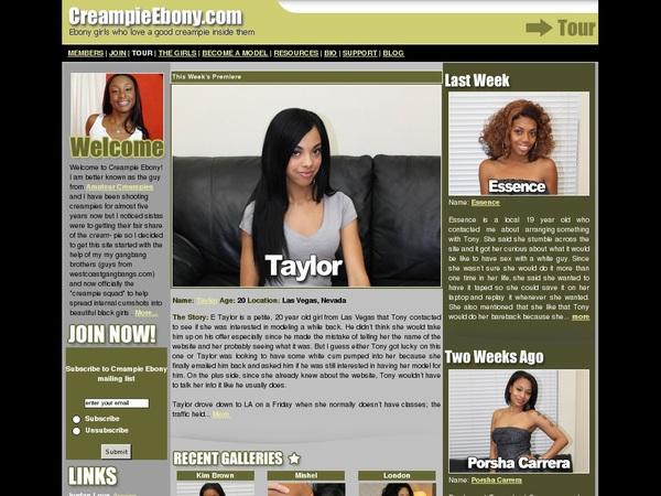 Creampie Ebony Password Free