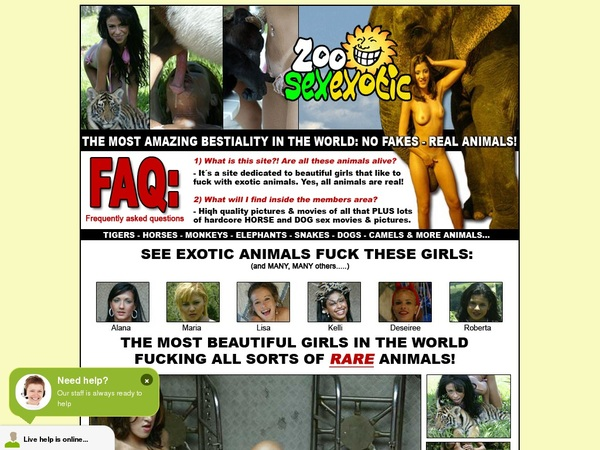 Zoo Sex Exotic One Year