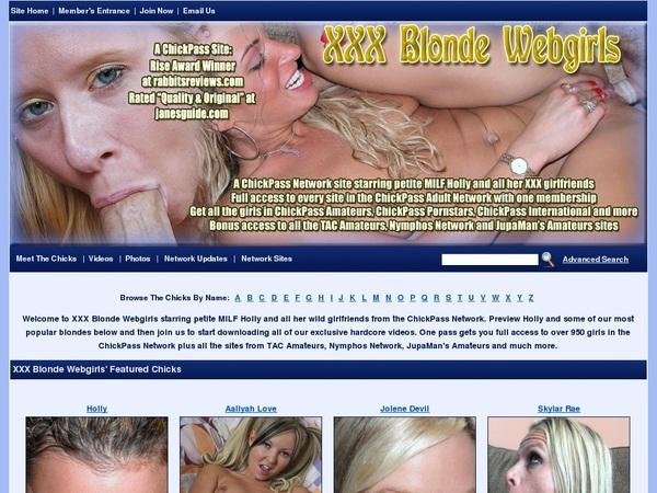 Free Xxxblondewebgirls.com Account And Password