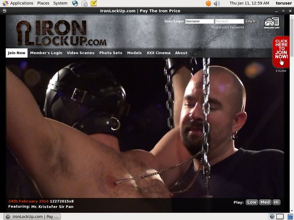 Iron Lock Up Join Page