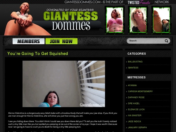 Giantessdommes.com Site Discount