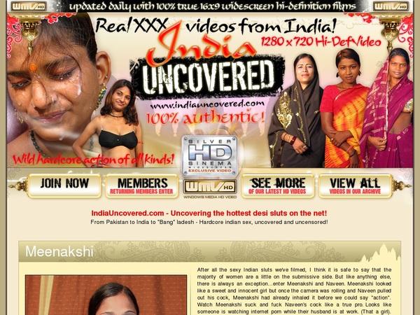 India Uncovered Password Site