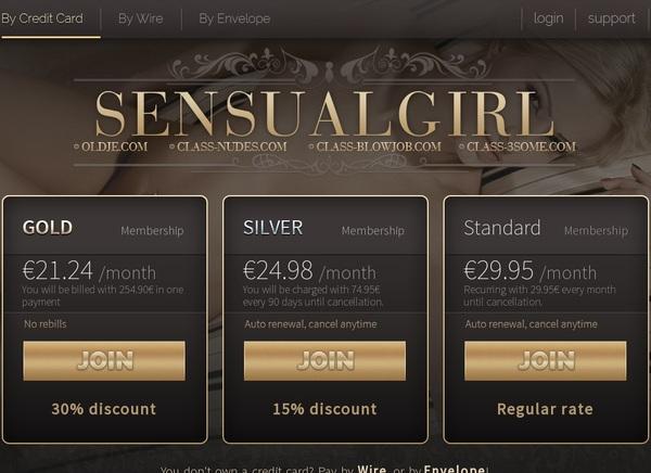 Sensualgirl.com Free Memberships