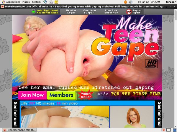 Make Teen Gape With EUDebit