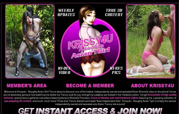 Sign Up For Krissy4u.com