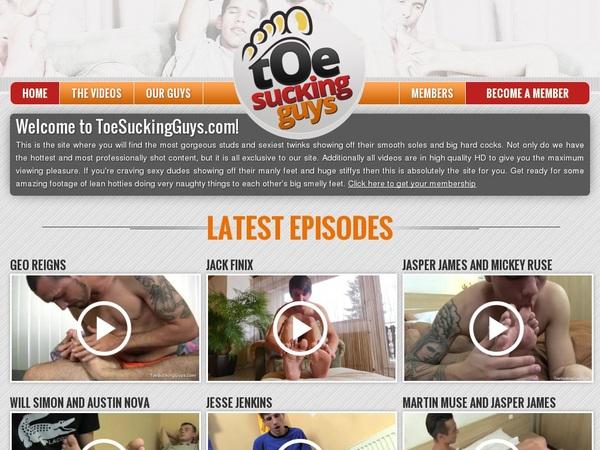 Toesuckingguys.com Porn Site