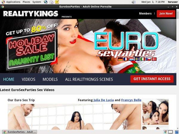 Euro Sex Parties Account 2016