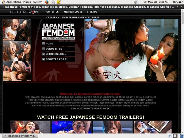Japanesefemdomvideos.com Daily Accounts