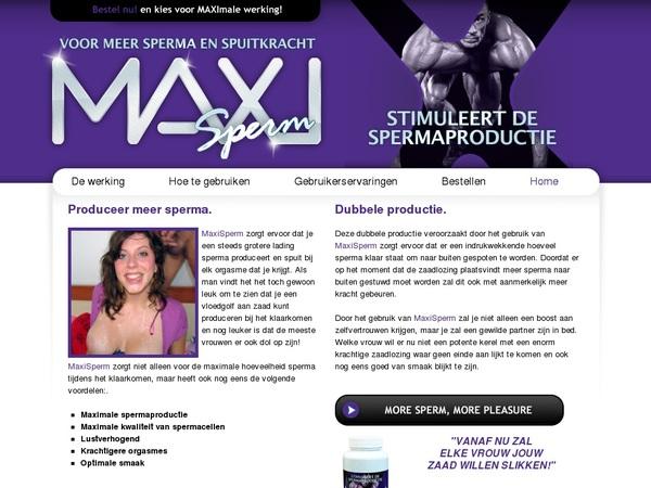 MAXI Sperm Member Login