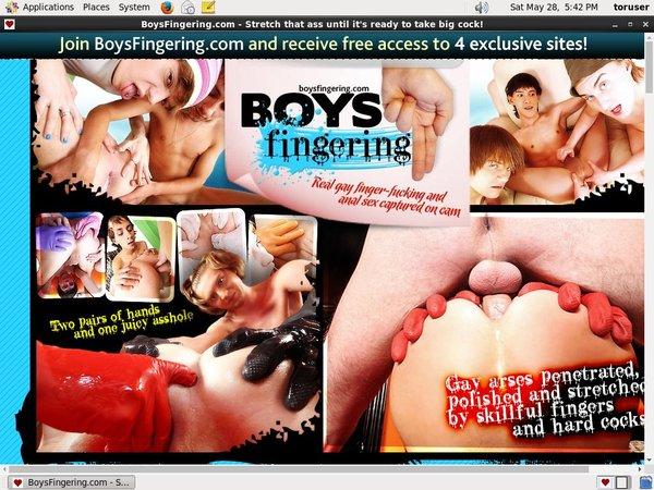 Boys Fingering Fresh Passwords