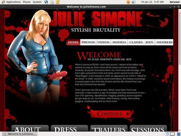Julie Simone Discount Link