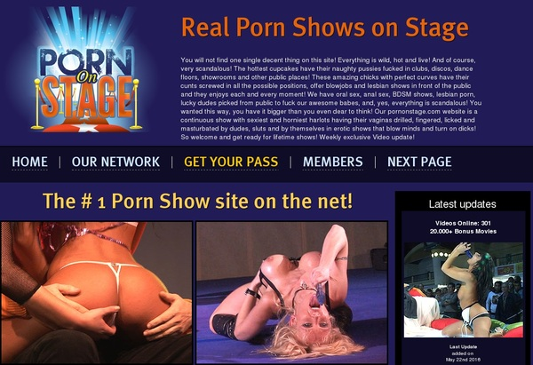 Porn On Stage With SOFORT