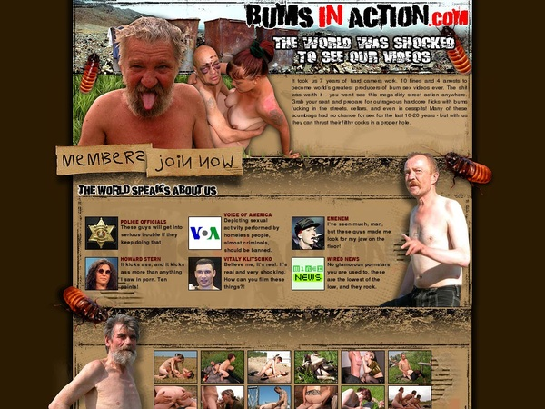 Free Bums In Action