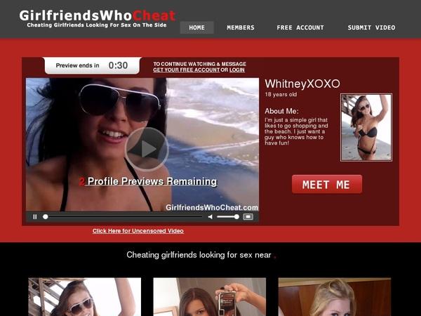 Free Girlfriendswhocheat.com Accounts