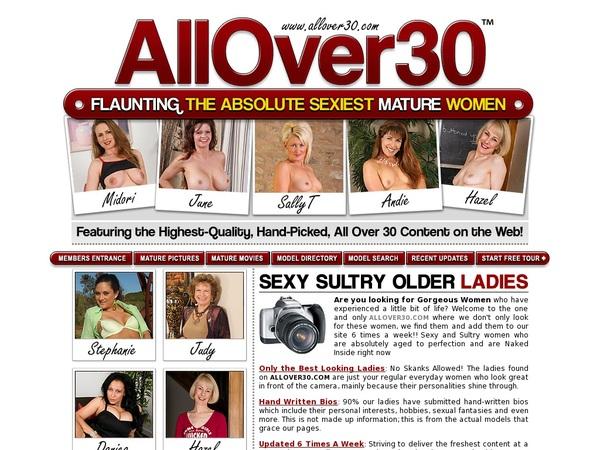 Get Into Allover30.com Free