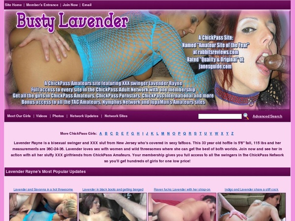 Mobile Busty Lavender Account
