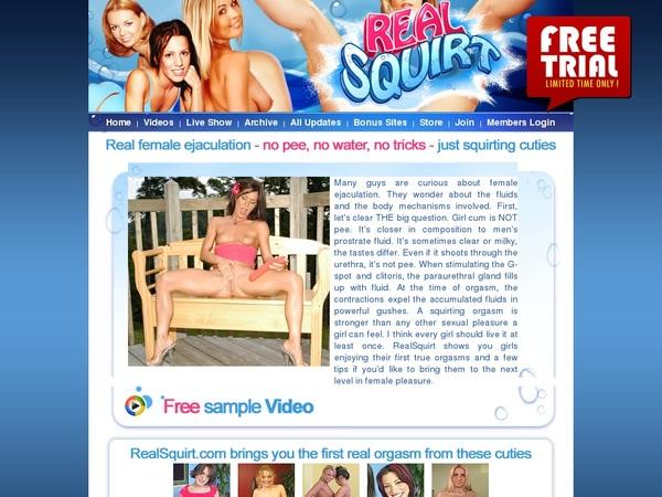 Realsquirt Account Blog