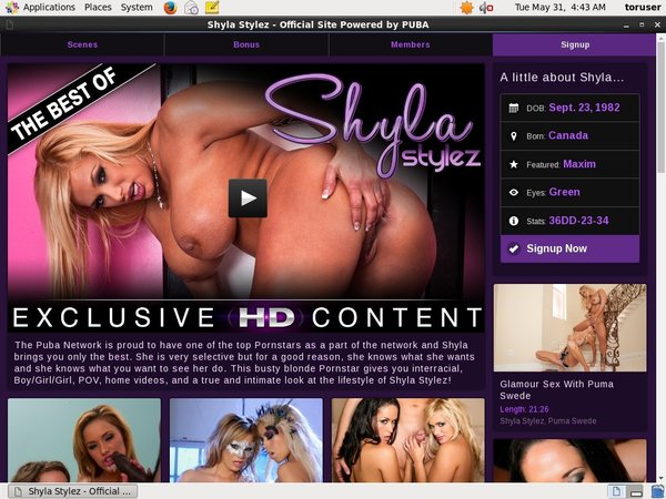 Shyla Stylez Free Users